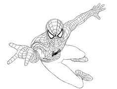 How to draw Spidey!