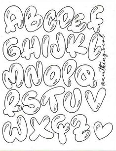 Graffiti Lettering Fonts, Hand Lettering Alphabet, Doodle Lettering, Graffiti Alphabet, Lettering Styles, Calligraphy Letters, Doodle Fonts, Islamic Calligraphy, Doodle Art