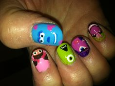 Monster's Inc nail art