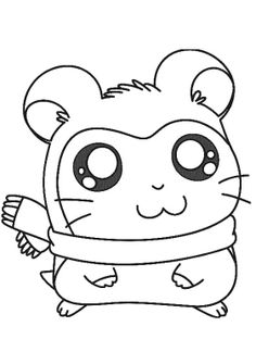 hamtaro coloring pages for kids printable online 17