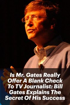 """Several years back, Bill Gates was interviewed by a TV show in which the journalist asked him a question, """"Mr. Gates, what is the secret of your success?"""" #billgates #entrepreneur #entrepreneurs #entrepreneurship #secretofsuccess Business Mission, Business Goals, Start Up Business, Business News, Business Planning, Blank Check, What Is The Secret, Secret To Success, Bill Gates"""