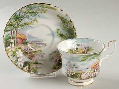 Royal Albert Country Scenes Footed Cup & Saucer Set