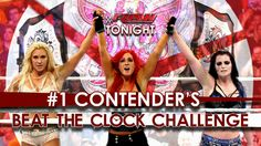 These women are making history in the 1st ever divas beat the clock challenge. Team PCB Paige, Charlotte, and Becky Lynch