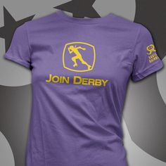 JOIN DERBY recruiting shirt! Purple shirt and teal design for PUSH colors??