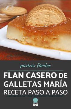 Kitchen Recipes, Baking Recipes, No Bake Desserts, Dessert Recipes, Latin American Food, Flan Recipe, Deli Food, Hot Dog Buns, Custard