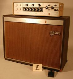 """1962 GIBSON GA-300 Super 300RVT. 60 Watt w/ OPTICAL COMPRESSOR BUILT IN & Two Bridgeable Channels. *Three 12AU7, Two 6EU7, One 7199, One 0A2 & Two 6L6 + 6 Diodes (*Changing out for 12AX7's in the Pre-amp could push compressor into killer unique tones) + Gibson's Unique Deep Tremolo & Reverb. I'm not sure on the 12 inch speakers..This """"TUCK AWAY"""" HEAD -TWIN was part of their """"High End"""" series & a year later in 1963 switched to JBL. Neat ideas..Gotta save Schematics."""