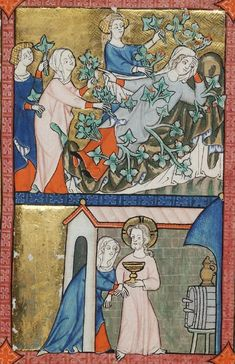 klikni pro další 129/150 Medieval Clothing, Medieval Art, 14th Century, Tarot, Image, Women, Fashion, Historia, Painting Art