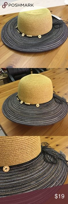 New panama hat with pandent string band Paper straw panama hat.3inch brim.One size fits most women(head curcumference is about 57cm the hatter Accessories Hats
