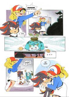 Shadow The Hedgehog, Sonic The Hedgehog, Hedgehog Art, Sonic Fan Characters, Anime Characters, Cute Comics, Funny Comics, Shadow And Maria, Sonic Funny