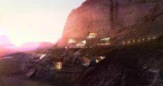 Mountain Carved Wadi Rum Eco-Resort I Oppenheim Architecture   architektT