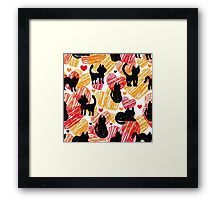 Black cats Framed Print