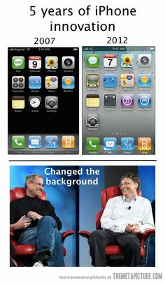 5 years of iPhone innovation... lol