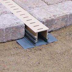 Stegmeier Adjustable Height Paver Drain (Marble) 10' #deckideas #LandscapingPavers #deckdesigns