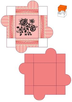 Printable Box, Templates Printable Free, Envelopes, Paper Flower Patterns, Paper Doll House, Diy And Crafts, Paper Crafts, Gift Wraping, Craft Box