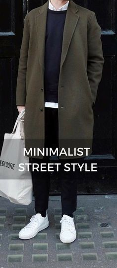 Minimalist fashion men - 15 Winter Looks For Minimalist Mens Fashion Blog, Best Mens Fashion, Denim Fashion, Korean Fashion, Fashion Trends, Look Man, Herren Outfit, Inspiration Mode, Lookbook