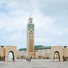 Hassan II Mosque Morocco. The mosque is the tallest religious temple in the world. This is one of the few mosques in the Muslim world that allows non-Muslim tourists to visit although there are some areas that can only be trodden by them. The Mosque was designed by the French architect Michel Pinseau and the construction work began on July 12 1985. It was inaugurated on August 30 1993. Around 2500 people and 10000 Moroccan craftsmen were involved in the construction work. The approximate…