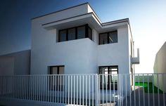 Proiect de casă cu alipire la calcan în Sectorul 5, București Case, Beautiful Homes, Houses, Mansions, Architecture, House Styles, Home Decor, House Of Beauty, Homes
