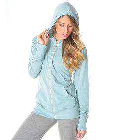This Water Bottle Blue® Zip-Up Hoodie - Women & Plus by Earthspun Apparel is perfect! #zulilyfinds