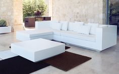 Vector Patio Sofa Collection | Rotomolded, PE resin frames | Offered in 16 frame colors | Optional backlighting & cushions