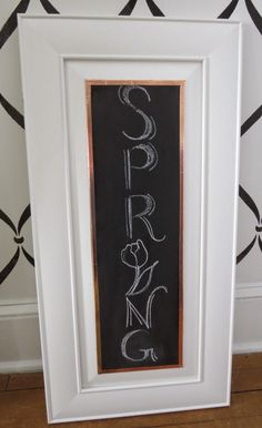 While I Linger: Black Board Cabinet Signs