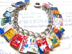 My English teacher heart just skipped a beat-- book charms!  Great idea.