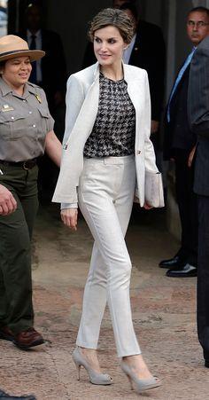 Su Majestad la Reina Letizia durante su visita a San Juan. San Juan, Puerto Rico, 16.3.2016.