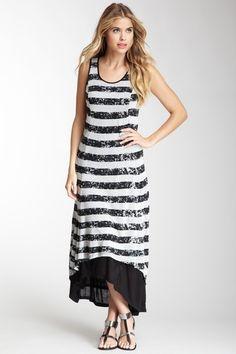 Kensie Striped Hi-Lo Layered Dress by Kensie on @HauteLook