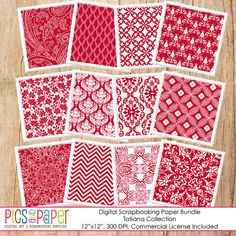 Digital background, Paper in red and white,Use them for your Christmas projects, for photographers, bloggers, crafts, party, invitation