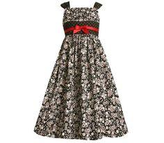 Bonnie Jean Girls PLUS Size BLACK WHITE TWIN FLORAL-DOT PRINT Special Occasion Wedding Flower Girl Party Dress-12.5 BNJ-1172B-B81172 Bonnie Jean,http://www.amazon.com/dp/B003XDJ3OK/ref=cm_sw_r_pi_dp_2hg9qb1CTFECR4KV