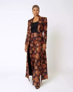 Eminado Ankara Suit/ custom-made suit/ suits for ladies African Inspired Clothing, African Print Fashion, African Fashion Dresses, Ankara Fashion, African Clothes, African Dresses For Women, African Wear, African Attire, African Suits