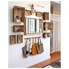 Ideia boa para organizar os acessórios em casa ou para expor na loja, como na…