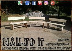 2 Seater benches. Perfect for the patio or firepit. Affordable pallet wood furniture designed by you, built by us. For more info, contact 0834376919 or naileditpallets@gmail.com #palletbenches #palletbench #bench #palletwoodbenches #palletwoodbench #nailedpalletfurnituredurban #naileditcustombuiltpalletfurniture #palletfurnituredurban #custompalletfurniture #palletfurnitureideas #palletwoodfurniture
