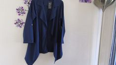 .RUIYIGE.  LADIES BNWT  Navy Long WaterFall  long  Jacket  Size   Small     8-10 #RUIYIGE #OtherJackets #Everyday