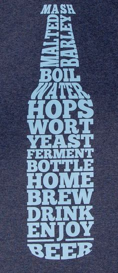 Home Brew Beer Bottle Home Brew Shirt by StarkOriginals on Etsy
