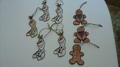 Burnt bark ornaments