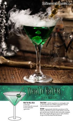 Diese Harry Potter Cocktail Rezepte sind so viel besser als Butterbier - Cocktails Theme Harry Potter, Harry Potter Food, Harry Potter Wedding, Harry Potter Birthday, Harry Potter Adult Party, Halloween Cocktails, Cocktail Drinks, Fun Drinks, Beverages