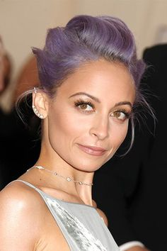 """""""Nicole Richie put lavender hair on the map in the most luxurious way, dressing it up and wearing it with grace,"""" Moon says. """"Lavender is ideal, because it can be embraced by all skin tones."""""""