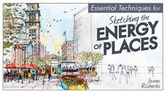 Sketch lively urban spaces pulsing with movement. Get step-by-step guidance for drawing bustling streets, impressive buildings and more.
