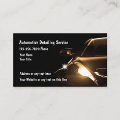 Plastic Business Cards, Metal Business Cards, Free Business Cards, Professional Business Cards, Business Card Design, Automotive Detailing, Car Detailing, Letterhead Template, Card Templates