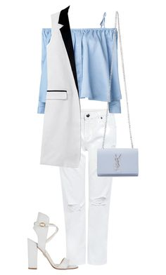 """""""White set"""" by eshlychenko ❤ liked on Polyvore featuring Edit, Sandy Liang, Paul Andrew and Yves Saint Laurent"""