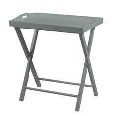 Šedý odkládací stolek Actona Vassoio