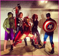 R5 Dressed Up As Marvel's The Avengers For Halloween