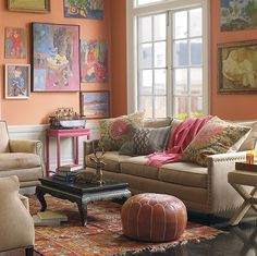A warm and comfy salmon lounge room (taken from the web)...