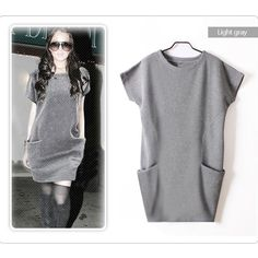 💠💠The RALEIGH tunic top/dress- GREY I purchased this as a dress but it's much shorter than I expected. Unless you are 5 feet an under, this will be a tunic top. Cute side pockets. Cotton blend. Pls see pic 2-4 for actual item & color. Also available in dark charcoal. Runs small so size up‼️NO TRADE‼️ Tops Tunics