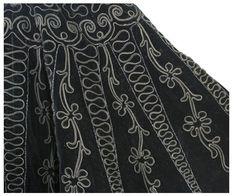 Beaded embroidered velvet cape, 1890-1900 2