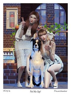 Sims 4 CC's - The Best: PET ME UP! Poses Sets by FlowerChamber