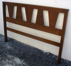 Full / Queen Size Mid Century Modern Walnut Headboard--might build one similar to this