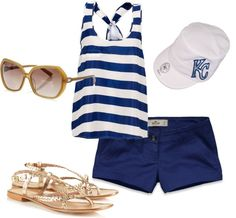 """""""Women's Kansas City Royals Outfit"""" by lcinkc on Polyvore"""