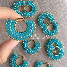 Inspiring Reasons I Love Jewelry Ideas. Intoxicating Reasons I Love Jewelry Ideas. Brick Stitch Earrings, Seed Bead Earrings, Beaded Earrings, Earrings Handmade, Handmade Jewelry, Bead Jewellery, Wire Jewelry, Jewelry Crafts, Beaded Jewelry