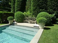 If you are working with the best backyard pool landscaping ideas there are lot of choices. You need to look into your budget for backyard landscaping ideas Swimming Pool Designs, Swimming Pools, Pool House Designs, Lap Pools, Outdoor Rooms, Outdoor Gardens, Outdoor Living, Children Swimming Pool, Rectangular Pool